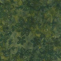 Island Batik Hand Printed Cotton - Agave Gold SP13-F1