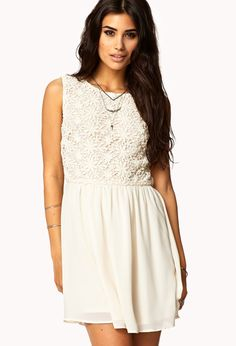 Crocheted Fit & Flare Dress | FOREVER21 - 2055670238