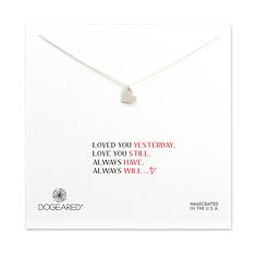 loved you yesterday, love you still… sparkle heart necklace, sterling silver - Dogeared