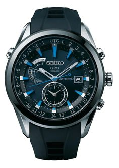 Seiko Astron Watch GPS Solar Chronograph Blue D SSE013 Watch