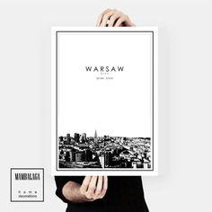 plakat Warszawa panorama  - MAMBALAGA - Plakaty typograficzne