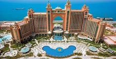 Atlantis, The Palm is a resort located on Dubai's reclaimed artificial island Palm Jumeirah. It was the first resort to be built on the island and is based on the myth of Atlantis includes distinc. Dubai Hotel, Dubai City, Hotel Subaquático, Palms Hotel, Dubai Uae, Hotel Deals, Palm Jumeirah, Abu Dhabi, Top 10 Hotels