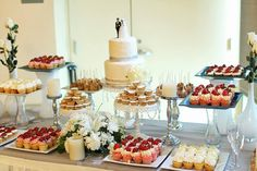 Wedding Dessert Table - add  some cheese and fruit if you have diabetic concerns