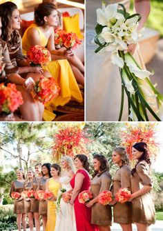 Wedding Colors Inspired By A Sunset ~ From Jennifer Lindberg Photography | Style Me Pretty