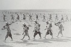 """British Somaliland, an Italian infantry marching column. A Dte and GCHE, armed soldiers """"Fucile Mitragliatore Breda modello Italian Empire, Italian Army, Haile Selassie, East Africa, North Africa, Afrika Korps, National History, Ww2 Photos, Roman History"""