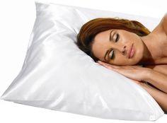 Betty Dain Satin Pillowcase, King Size, White (Pack of 2)