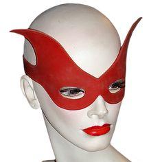 Burlesque, Gotico o Halloween originalissima maschera Unisex in Lattice Red Fin Mask