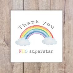 Etsy :: Your place to buy and sell all things handmade Rainbow Card, Rainbow Colors, Over The Rainbow, Color Card, Box Frames, Paper Cards, Your Cards, Painted Rocks, Thank You Cards