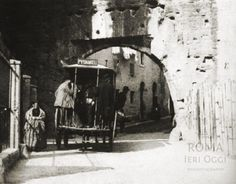 Via Bonella (Primoli, 1900 ca) Rome, Painting, Spaces, Arch, Mantle, Photos, Painting Art, Paintings, Rum