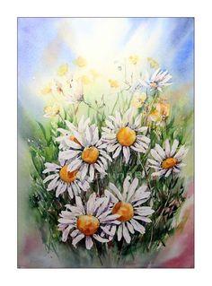 Blumenwiese / Aquarell 36x51cm