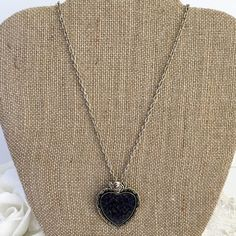 Heart Necklace personalized with your flower petals
