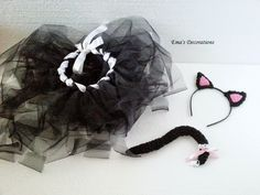 Kitty Costume - crochet ears and tail, no sew tutut