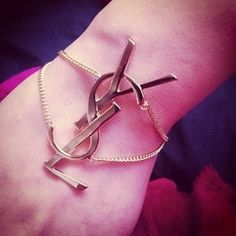 AWWWW a YSL linked bracelet... WANT!