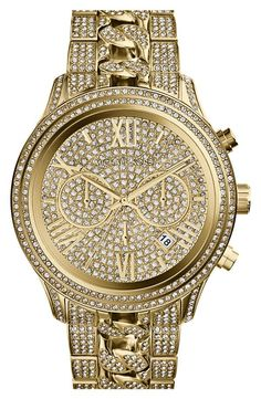 Bling, bling! Sparkly Michael Kors Chronograph Bracelet Watch.