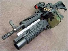 Futuristic Surge Rifle. (currently used by U.S. marines)