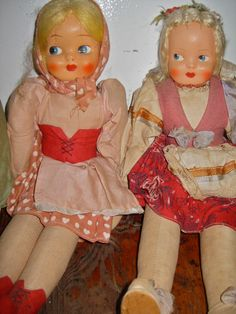 POLISH DOLLS Vintage 1950s Hand MADE Beautiful by atomicpassion
