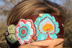 MultiColored Flowers on Brown Hankerchief Background by RuralHaze, $11.99. Use Code: PINTEREST01 to receive 10% off any purchase!
