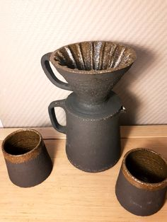 Beautiful hand crafted ceramic pourover coffee set by my design.
