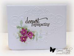 Handmade sympathy card by Diana Nguyen using the Deepest Sympathy plain jane from Verve.  #vervestamps