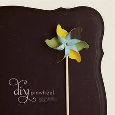 diy: pinwheel. Possible aero plane propellers for an aeroplane party??