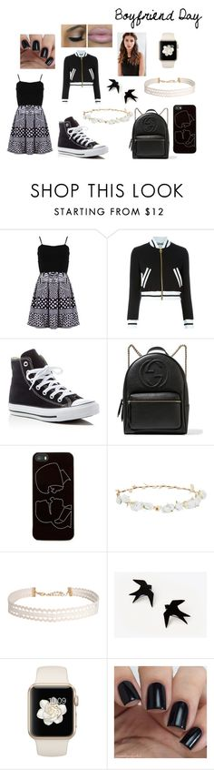 """Boyfriend Day"" by bellarina2016 ❤ liked on Polyvore featuring FRACOMINA, Moschino, Converse, Gucci, Zero Gravity, Robert Rose, Humble Chic and REGALROSE"