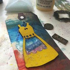 Working on my #onelittletag (s) today. I found a box of random embellishments so I'm doing assemblage of found objects. Join our Facebook group (One Little Tag challenge group) or tag your creations #onelittletag to join in! :art::paintbrush::scissors::