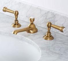 Reyes Lever Handle Widespread Bathroom Faucet, Antique Bronze Finish