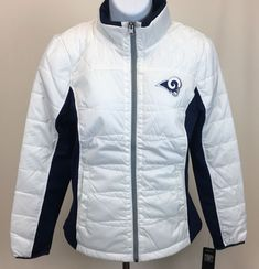 a9aa34b481ea GIII For Her NFL Los Angeles Rams Women s Grand Slam Full Zip Jacket Small  White  GIII  LosAngelesRams