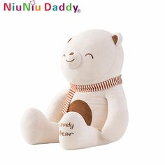Niuniu Daddy Plush Lovely Bear With Stuffing Plush Toy Stuffed Animals Cute Bear Stuffed Animal Pillow Valentine's Day Gifts #Affiliate