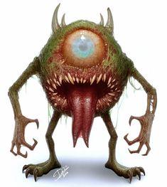Mike Wazowski from Monsters Inc. Horror Disney, Creepy Disney, Horror Cartoon, Zombie Cartoon, Childhood Characters, Cute Cartoon Characters, Favorite Cartoon Character, Character Art, Disney Characters