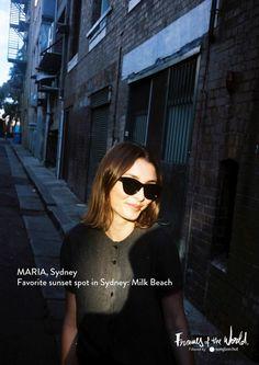 Maria, Sydney :: Photography by Ryan Kenny :: www.sunglasshut.com #framesoftheworld #sunglasses #trend #sydney