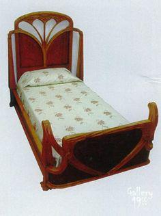 Art Nouveau bed designed by Louis Majorelle