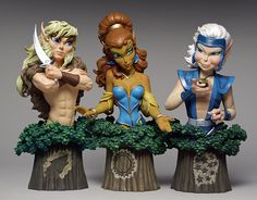 Elfquest busts. One of my fave comics!
