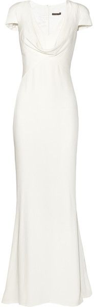 "From pinner: ""ALEXANDER MCQUEEN ""THAT PIPPA MIDDLETON DRESS"" ***** Cowl-neck Silk-crepe Gown   not sure it's a Date night dress- but wanted to share it with Date night pinners :-D   dressmesweetiedarling"""