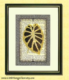 A Leaf From God's Book  2  Dictionary art by littlevintagechest, $7.99