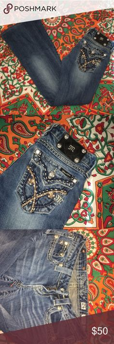 Miss Mes Perfect condition got them in a trade and they were too tight, Trade Value: $70 Miss Me Jeans Boot Cut