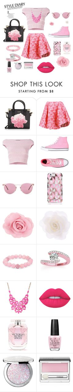 """Pink"" by manarn5 on Polyvore featuring Calvin Klein, Simone Rocha, Alexander McQueen, Converse, Oliver Peoples, Kate Spade, Accessorize, Palm Beach Jewelry, Allurez and Alexa Starr"