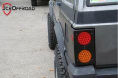 JcrOffroad, Inc. Cherokee Rear Upper Quarter Panel Guards w/Tail Lights (96 down)