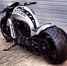 Monza Harley-Davidson V-Rod Motorcycle Bobbers, Vrod Custom, Bmw 1000rr, Vrod Harley, Harley Gear, Bmw Cafe Racer, Cool Motorcycles, Triumph Motorcycles, Hot Bikes