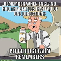 There are bands that I remember all my life. So wise Pepperidge Farms =) #OneDirection #TheBeatles