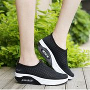 Big Size Mesh Breathable Rocker Sole Platform Sport Shoes