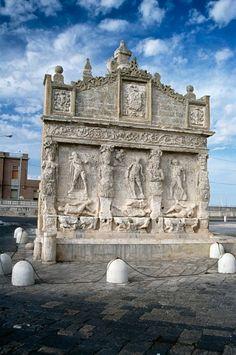 Hellenistic fountain, rebuilt in 1560, Gallipoli, Apulia, Italy