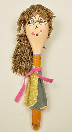 """lovely hand made """"Oliana"""" spoon doll by KATijA TOMiC"""
