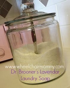 Lavendar Homemade Laundry Soap with Dr. Bronner's
