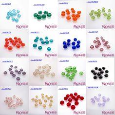 Kolorowe kryształowe koraliki 3mm