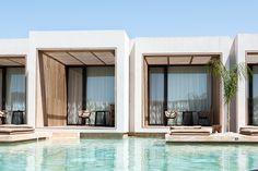 Olea All Suite Hotel Greece ©Renae Smith Lake Hotel, Hotel Pool, Hotel Architecture, Architecture Design, Luxury Hotel Design, Luxury Hotels, Modern Tropical House, Greece Hotels, Resort Villa