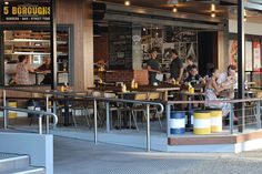 5 Boroughs bar and eatery - inspired by the cultural diversity of Manhattan, Brooklyn, The Bronx, Queens and Staten Island - brings a taste of New York City Bar Street, Street Food, Brisbane Bars, Brisbane Restaurants, Burger Bar, New York City, Places To Go, Stones, Corner