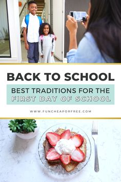 Make back-to-school memorable this year with these special first day of school traditions! Whether your kids are feeling the nerves or you're the one a little weepy, these fun (and CHEAP!) traditions will help get the excitement flowing and capture memories for a lifetime! Night Before School, First Day Of School, School Fun, Back To School Breakfast, Best Breakfast, Eating Ice, Graduation Day, Start The Day, You Are Awesome