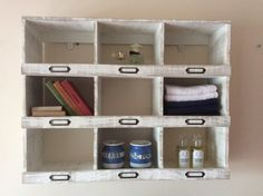 Hand made Shabby chic Pigeon hole shelves by AshOaken on Etsy
