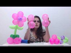 Como fazer uma flor de balões para centro de mesa - decoração de balões / bexigas - YouTube